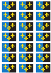 Monmouthshire Flag Stickers - 21 per sheet